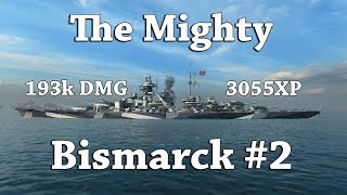 Download WoWS: The Mighty Bismarck 2 [3055XP, 193k DMG] Video