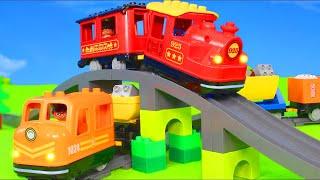 Download الحفار, الجرار, سيارة الإطفاء, شاحنات القمامة و سيارات الشرطة ومجموعة ألعاب Excavator Toys Video