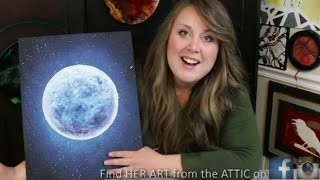 Download How to Paint a Moon & Star filled Sky · Bella Luna Video