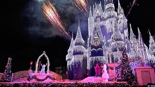 Download 'A Frozen Holiday Wish' 2014 Cinderella Castle Christmas Lighting at the Magic Kingdom Disney World Video