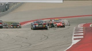 Download Pirelli World Challenge (SprintX GTS) 2018. Race 1 Circuit of the Americas. Restart Crash Video