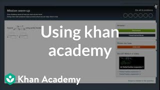Download Using Khan Academy Video