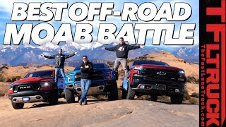 Download Three New Trucks - One Epic Off-Road Comparison: 2019 Ford Raptor vs Chevy Trailboss vs Ram Rebel! Video