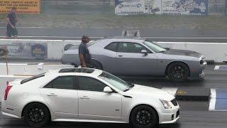 Download 2016 Hellcat battles CTS-V Cadillac-1/4 mile drag race Video