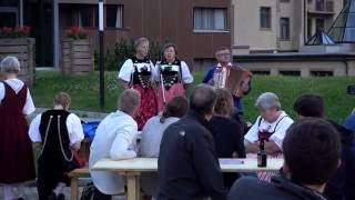 Download Local women yodeling in the Swiss Alps Video