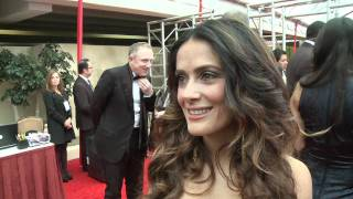 Download Salma Hayek arrives - HFPA Red Carpet Interview- Golden Globes 2012 Video