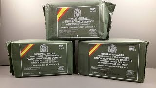 Download 2015 Spanish Individual Combat Ration 24 Hour Set MRE Review Marathon Meal Ready to Eat Taste Test Video