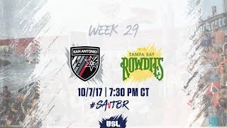 Download USL LIVE - San Antonio FC vs Tampa Bay Rowdies 10/7/17 Video