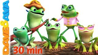 Download 🎯 Five Little Speckled Frogs | Nursery Rhymes Collection from Dave and Ava 🎯 Video
