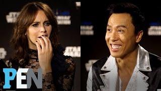 Download Rogue One: Donnie Yen, Felicity Jones & Cast Answer Kids' Star Wars Questions | PEN | People Video