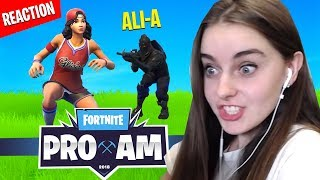 Download Killed by AliA in Fortnite PRO AM Charity Match (REACTION) Video