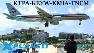 Download X-Plane 11 | BACK TO ST.MARTEEN IN THE 777!? | KTPA-KEYW-KMIA-TNCM | A320 B737 B777 | New Years Spec Video