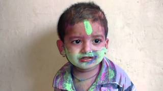 Download Cute baby saying - Happy Holi Video
