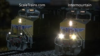 Download Intermountain vs ScaleTrains: Battle of the Tier 4 GEVOs! Head to Head Scale Trains ET44AC Video