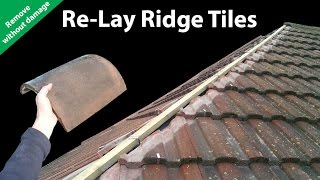 Download How to Re-lay Ridge Tiles - Remove Ridges Without Breaking Video