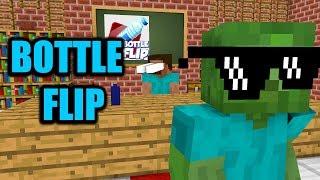 Download Monster School : BOTTLE FLIP CHALLENGE - Minecraft Animation Video