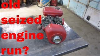 Download will it run? free seized 1949 reo small engine. Video