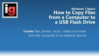 Download How to Copy or Transfer Files from a Computer to a USB Flash Drive Video