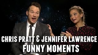 Download Chris Pratt and Jennifer Lawrence Funny Moments 2017 Video