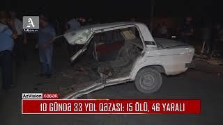 Download 10 GÜNDƏ 33 YOL QƏZASI: 15 ÖLÜ, 46 YARALI Video