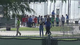Download Congress members tour migrant facility in Florida Video