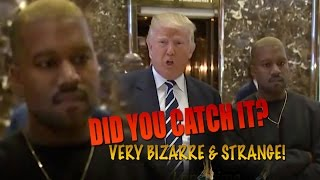 Download TRUMP meets Kanye WEST but did you Notice this BIZARRE Strange Behaviour? BUSTED! Video