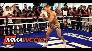 Download Conor McGregor Shows Off Fancy Footwork Training for Floyd Mayweather Video