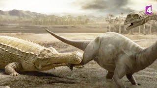 Download Paralititan VS sarcosuchus (dinosaures) - ZAPPING SAUVAGE Video