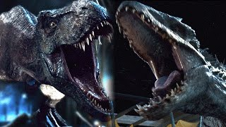 Download Jurassic World T Rex vs Indominus Rex (SPOILER)1080p HD Video