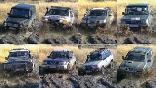 Download Mercedes G vs Toyota FJ Cruiser & Land Cruiser vs Nissan Patrol & Terrano Video