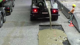 Download RC BETONMISCHER 8x4 - RC CONCRETE MIXER REPAIR THE STREET !RC LIVE ACTION FOR KIDS! Video