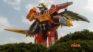 Download Power Rangers Dino Charge - True Black - Megazord Fight Video