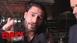 Download Roman Reigns on why Kevin Owens isn't ready for The Big Dog: Raw Fallout, Nov. 28, 2016 Video