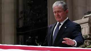 Download George W. Bush Delivers Emotional Eulogy for His Father George H.W. Bush Video