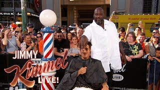 Download Shaq & Guillermo Give Summer Haircuts to Pedestrians Video