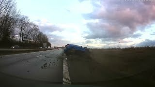Download Hard crash after failed overtake! Sweden, E22 Outside Kristianstad. Video