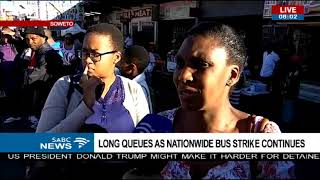 Download Commuters frustrated as bus strike continues Video