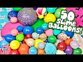 Cutting Open 50 SLIME Squishy Balloons! MASSIVE Slime Smoothie!