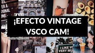 How I edit VINTAGE FILTER using VSCO Free Download Video MP4