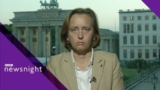 Download German right-wing leader challenged on immigration - BBC Newsnight Video