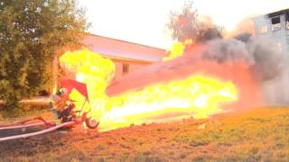 Download Water-cannon vs. Flame-thrower Video