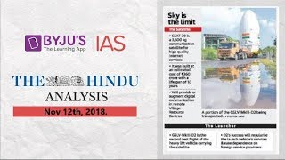 Download 'The Hindu' Analysis for Nov 12th, 2018. Video