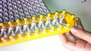 Download Cómo tejer una bufanda básica con telar rectangular en punto cruzado Video
