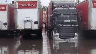 Download Powodz na Transcargo Szczecin- Scania podpina naczepe Video