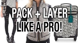 Download PACK + LAYER LIKE A PRO! How to Pack LESS + Travel Tips! Video