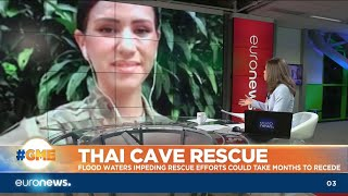 Download Thai Cave Rescue: Flood waters impeding rescue efforts could take months Video