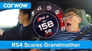 Download Hilarious - my 70 year old mom reacts to Audi RS4 performance | Mat Vlogs Video