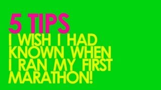 Download 5 TIPS FOR RUNNING YOUR FIRST MARATHON - GingerRunner Video