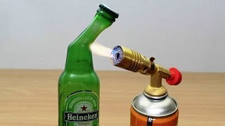 Download DIY: GLASS BEER BOTTLE vs GAS TORCH !!! Video