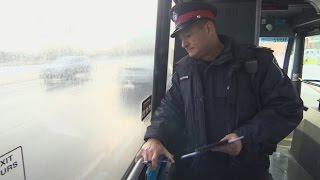 Download Police ride buses to ambush texting drivers Video